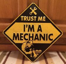TRUST ME IM A MECHANIC Metal Vintyle Style Garage Shop Man Cave  Mobil Stop Gas