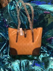Dooney and Bourke Tan Leather Boston Red Sox Dover Tote NWT