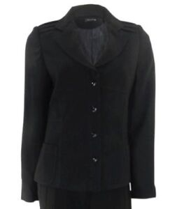 Zara Woman Black Long Sleeved Jacket Pleated Detail On Shoulders Fitted