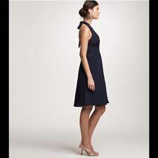 NEW! J CREW SZ P 8 Silk Allegra Halter Dress Chocolate Brown