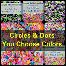 HOLLOW CIRCLES & DOTS~You Choose Colors~Nail Art•Face•Festival•Crafts•Makeup