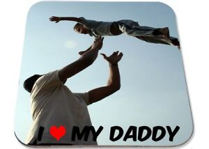 Personalised Printed Coaster,own photo, ideal Father's Day present love daddy