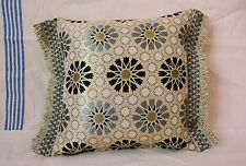 "Brocade Pillow Covers Made in Morocco - Small - Silver & Black - 21"" x 16.5"""