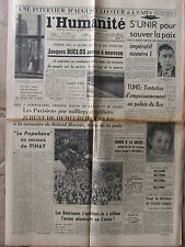 L'Humanité (14 juin 1952) Duclos accuse - Secours Pinay - Dispartion J Ringot