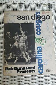 1973 AMERICAN BASKETBALL ASSOCIATION PROGRAM CONQUISTADORS V COUGARS  TEAM SIGN