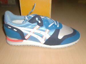 vintage shoes asics milford colectors  -new nos blue     4.5 usa    eur 33  TN95