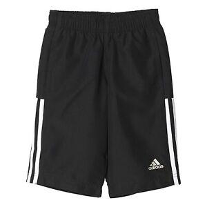 Adidas Boys Black 3Stripe Essentials Premium Fitted Bermuda Shorts AK2774