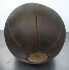 Antiker schwerer Leder Medizinball Medizin Ball handgefertigter Deco Lederball