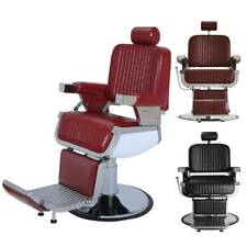 Adjustable Hydraulic Recline Barber Chair All Purpose Hair Styling Colors