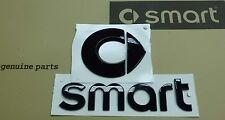 Set original smart Emblem Logo + Schriftzug Zeichen Aufkleber SCHWARZ fortwo TOP