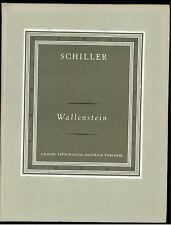 SCHILLER FRIEDRICH WALLENSTEIN UTET 1971 SCRITTORI STRANIERI V - 118