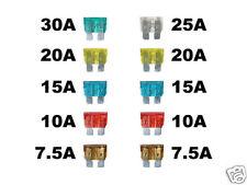 100 x Sicherungen 10x10 Set 19 mm Stecksicherungen PKW KFZ Auto 7,5/10/15/20/30A