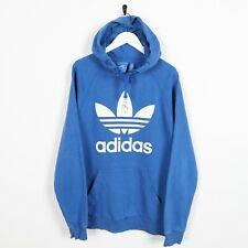Vintage ADIDAS ORIGINALS Big Logo Hoodie Sweatshirt Blue | Medium M