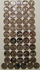 1999-2009 S -State Quarters Clad Proof - Complete 50 Coins + DC Territories set