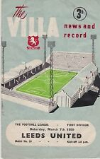 Teams L-N Reserves First Division Football Programmes
