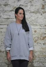 Patternless Cotton Crew Neck Jumpers & Cardigans for Women