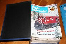 MODEL RAILROADER MAGAZINE FULL YEAR 1991 IN BINDER, ALL ISSUES IN GOOD SHAPE