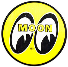 "Moon Original Logo Decal 1.5"" Sticker Mooneyes California Yellow Ford GM Chevy A"