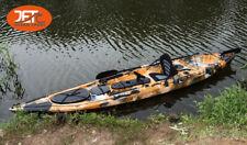 Jetocean 4.2M 14ft Single Sit-On Fishing Kayak with Paddle and Seat Orange camo
