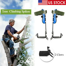 Tree Climbing Spike 2 Gears Safety Belt Adjustable Lanyard Rescue Fruit Picking