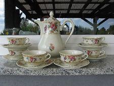 SERVICE / CAFE 6 Personnes. Porcelaine LIMOGES JAMMET SEIGNOLLES