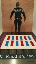 Red white & Blue 1/6 -1/12 scale rug for hot toys action figures Diorama Detolf