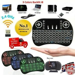 i8 Wireless Mini Keyboard Touchpad for Smart TV Android Box PC GAMES 3 Backlight