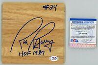 RICK BARRY PSA Autographed 6X6 Floorboard - WARRIORS HOF - PSA/DNA COA