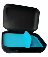 TUPPERWARE At Lunch A 136  Black & Blue Color Lunch Box With Foldable Divider