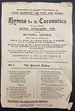 Hymns for the Coronation King Edward VII, 1902, Coronation Souvenir Leaflet