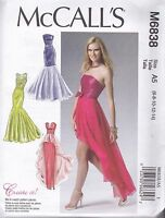 McCall's Sewing Pattern Misses' Prom Evening Dress Sizes 6 - 22 M6838