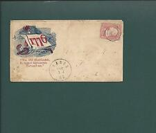 "Civil War Cover.  VF, SCARCE ""1776"" DESIGN. #65, Target Cl, Sharon, MS CDS."