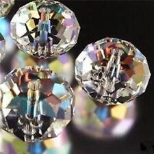 98 pcs Clear Crystal Gem Beads 4x6mm