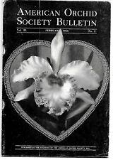 American Orchid Society Bulletin Vol. 25, No. 2, February 1956