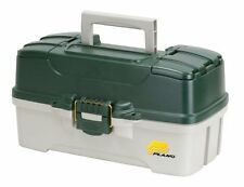 Tackle Boxes & Trays 3-Tray With Dual Top Access, Dark Green Metallic/Off White