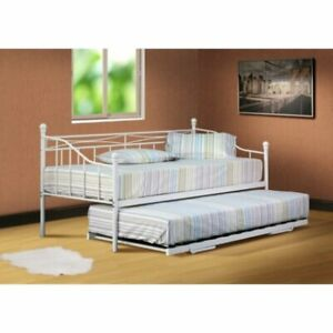 Brambly Cottage Lunsford Steel Daybed - White