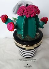 Kate Spade Scenic Route Cactus Flower 3D Clutch Bag Purse Wristlet NWT