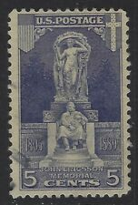 New ListingUnited States, Scott #628, 5c Ericsson Memorial, Used