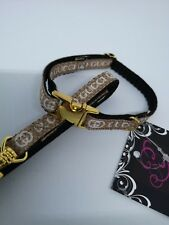 "SMALL DOG COLLAR and LEAD 6""- 8""  Gold or silver  CHIHUAHUA"