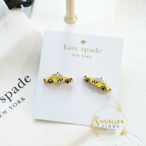 Kate Spade Ma Chérie Taxi Studs Earrings NYC Yellow Cab Studs Rare