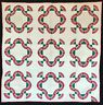 Antique 1920 Red & Green Snails Trail Quilt