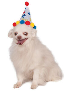 Boy Paw Print Pet Dog Cat Happy Birthday Red Blue Party Hat