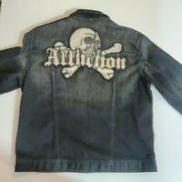 💀 Affliction Denim Jacket Embroidered Black XL Men's