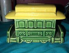 RARER Vintage CHRIS MUELLER Jr California Pottery CABLE CAR Bank