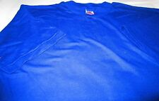 Fruit of The Loom T-Shirts XL Royal Blue 8 Pc 100 % Cotton Vintage Made in USA