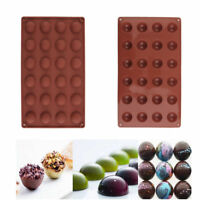 Silicone Round Half Ball Chocolate Cake Muffin Mould Baking Mold Pan Tray Tool