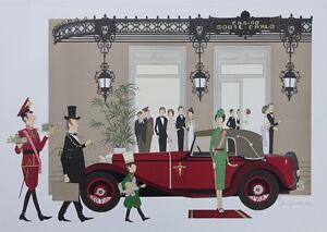 NOYER Denis-Paul :  Casino de Monte Carlo - LITHOGRAPHIE Originale signée, 115ex