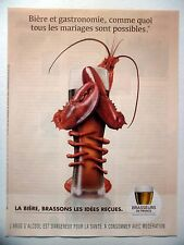 PUBLICITE-ADVERTISING :  BRASSEURS DE France  2015 Bière,Alcool,Langouste