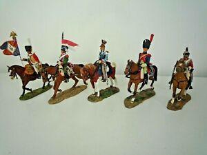 5 LEAD NAPOLEONIC CAVALRY SOLDIERS 4 DEL PRADO & 1 OTHER