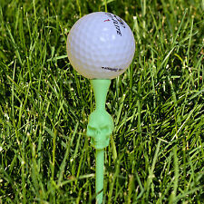 4 Jimmy Flintstone Kink E Tees Novelty Plastic Skull Golf Tees Sporting Goods